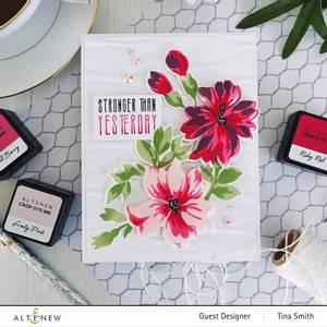 Bilde av Altenew Bitterroot Flower Layering Stencil Set