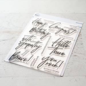 Bilde av Pinkfresh Studio Scripted bold sentiments 2 stamp