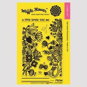Bilde av Waffle Flower Enveloper Little Birdie Stamp Set