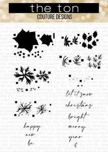 Bilde av The Ton Poinsettia Wishes stamp & die bundle