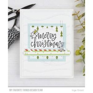 Bilde av MFT Hand-Lettered Holiday Greetings stamp set