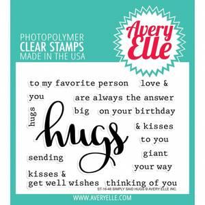 Bilde av Avery Elle Simply Said Hugs Clear Stamps
