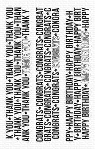 Bilde av MFT Spotlight Sentiments stamp set