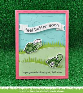 Bilde av Lawn Fawn Get Well Before 'n Afters Stamp Set