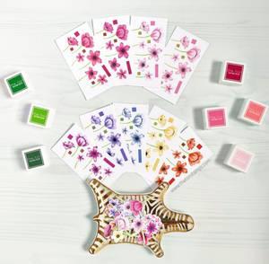 Bilde av The Ton Wildflower Bits stamp & die bundle