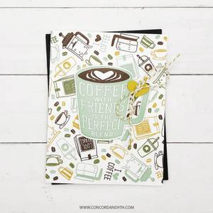 Bilde av Concord & 9th Coffee Blend Turnabout Stamp Set