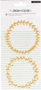 Bilde av Crate Paper Snow And Cocoa Adhesive Wreaths