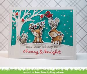Bilde av Lawn Fawn Cheery Christmas Stamp Set