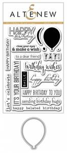 Bilde av Altenew Birthday Greetings Stamp & Die Bundle