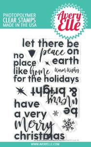 Bilde av Avery Elle Corner Sentiments Holiday Clear Stamps