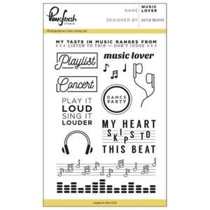 Bilde av Pinkfresh Studio Music Lover stamp set