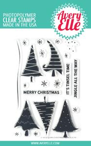 Bilde av Avery Elle Quirky Christmas Clear Stamps