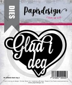 Bilde av Papirdesign Glad i deg 2 dies