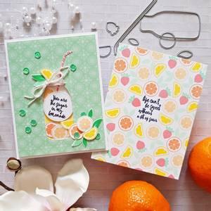Bilde av Pinkfresh Studio Sweet lemonade stamp set