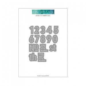 Bilde av Concord & 9th Double-Cut Numbers Dies