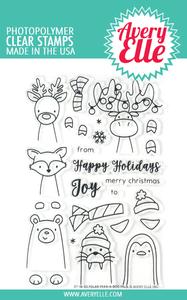 Bilde av Avery Elle Polar Peek-A-Boo Pals Clear Stamps