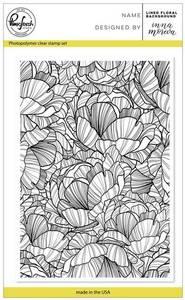 Bilde av Pinkfresh Studio Lined Floral Background stamp