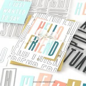 Bilde av Concord & 9th All the Letters Outline Stamp Set