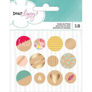 Bilde av American Crafts/ Dear Lizzy Wood Buttons
