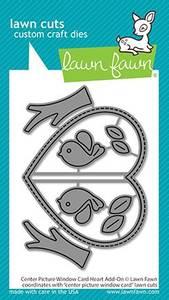 Bilde av Lawn Fawn Center Picture Window Card Heart Add-On