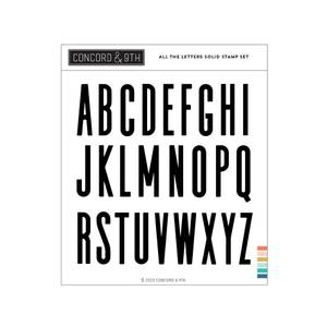 Bilde av Concord & 9th All the Letters Solid Stamp Set