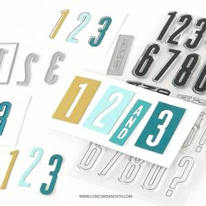 Bilde av Concord & 9th All the Numbers Stamp Set