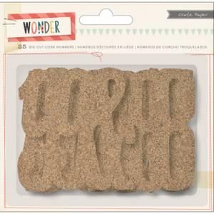 Bilde av Crate Paper Wonder Die-Cut Cork Numbers