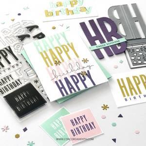Bilde av Concord & 9th All the Birthdays Stamp Set