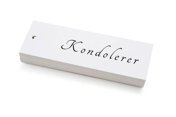 Bilde av 50 stk   Kondolerer   5x15 cm