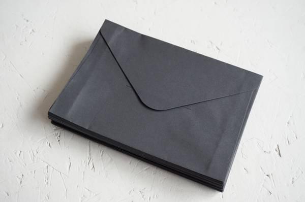 Bilde av 50 stk | Konvolutt C6, sort, uten lim