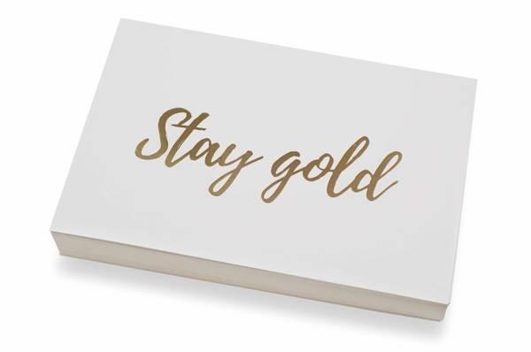 Bilde av 50 stk | Stay gold | 10x15 cm | Gullskrift