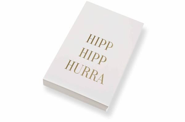 Bilde av 50 stk | Hipp hipp hurra | 10x15 cm | Gullskrift