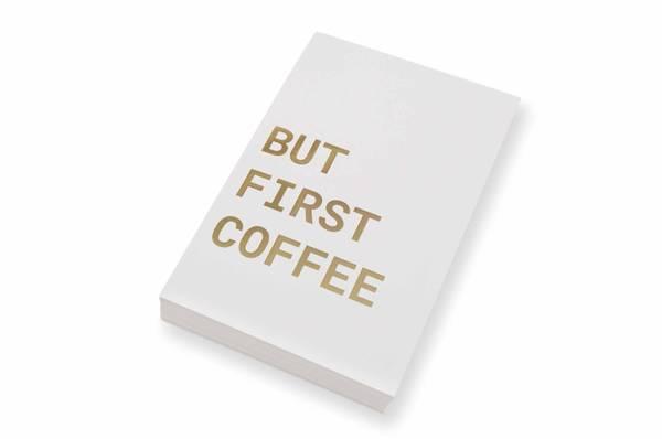 Bilde av 50 stk | But first coffee | 10x15 cm | Gullskrift