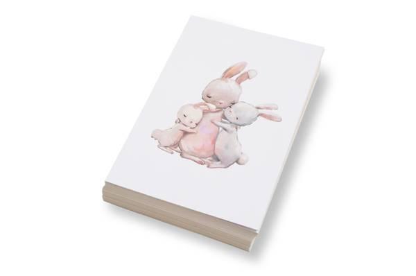 Bilde av 50 stk | Tre kaniner sammen | 10x15 cm