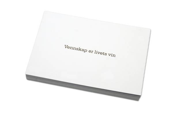 Bilde av 50 stk | Vennskap er livets vin | 10x15 cm