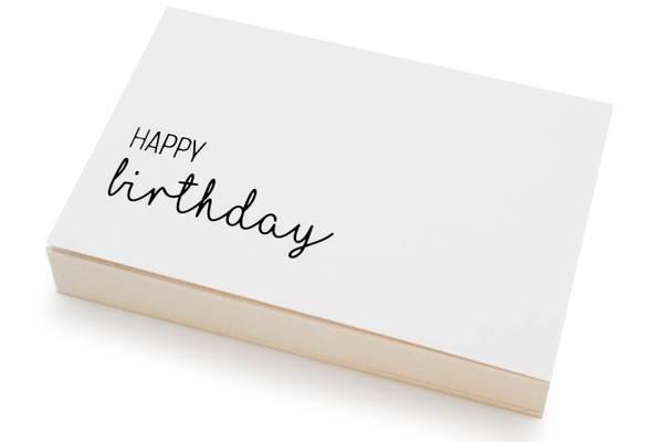 Bilde av 50 stk   Happy Birthday   10x15 cm