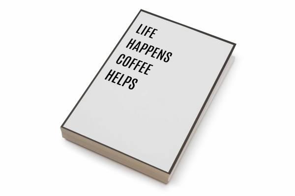 Bilde av 50 stk | Life happens coffee helps | 10x15 cm