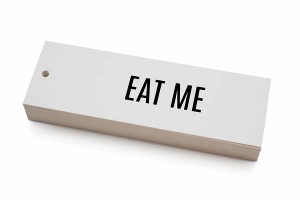 Bilde av 50 stk | Eat me | 5x15 cm