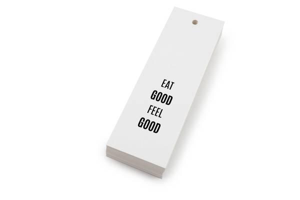 Bilde av 50 stk | Eat good feel good | 5x15 cm