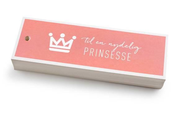 Bilde av 50 stk | Til en nydelig prinsesse | 5x15 cm