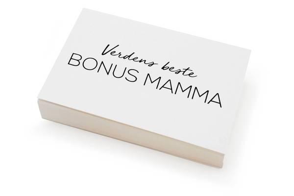 Bilde av 50 stk | Verdens beste bonus mamma | 10x15 cm