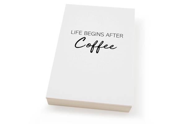 Bilde av 50 stk | Life begins after coffe | 10x15 cm