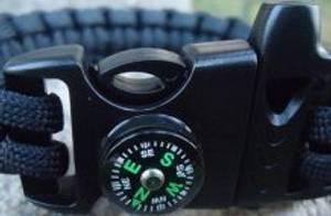 Bilde av Sideutløst spenne m/kompass og fløyte