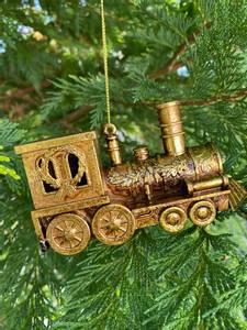Bilde av Tog juletrepynt, gull