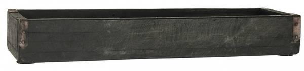 Unika trekasse med metallbeslag L43cm