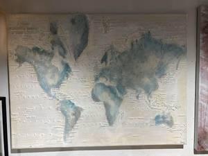 Bilde av World Lerretsbilde 120x90cm