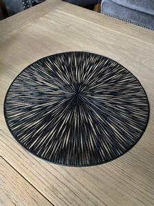 Bilde av Dekkebrikke PVC-kutt sort