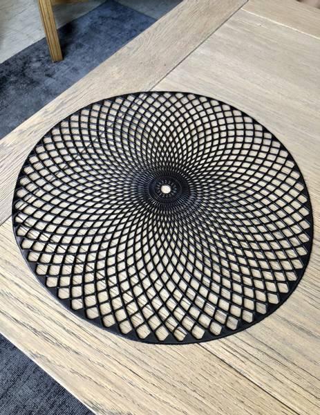 Dekkebrikke, sort rund