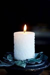 Bilde av Shiny Star Candle white 10cm