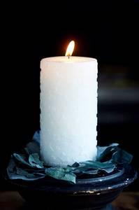 Bilde av Shiny Star Candle white 14cm